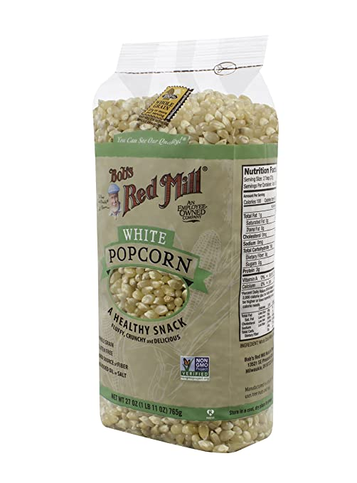 Bob's Red Mill Whole White Popcorn, 27 Ounce