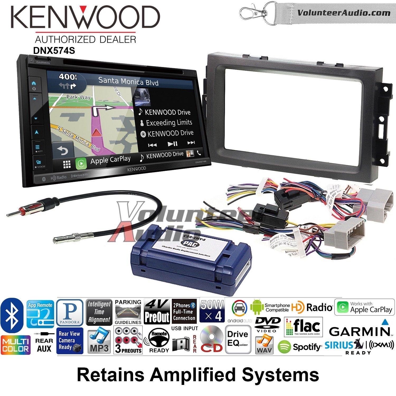 Kenwood dnx574sダブルDINラジオインストールキットwith GPSナビゲーションApple CarPlay Android自動Fits 2007 – 2008 Ram、2006 – 2007クライスラー300 B07C2DHQRK