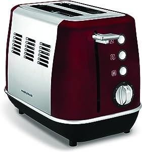 Morphy Richards Evoke 2 Slice Toaster 224408 Red Two Slice Toaster Stainless Steel Red Toaster 850 watts