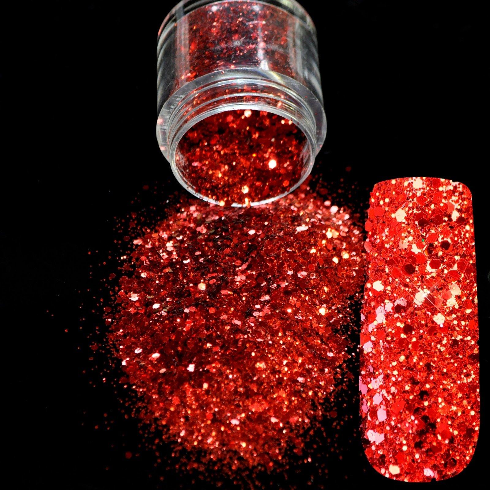 Amazon.com : Snow White Glitter Nail Art Tool DIY Glitter Mix ...
