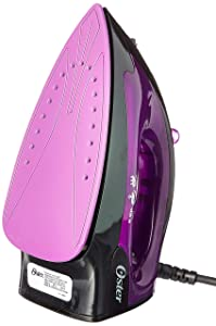 Oster 1200-Watt Variable Steam Iron 220 Volts (Not for USA - European Cord), Black/Violet