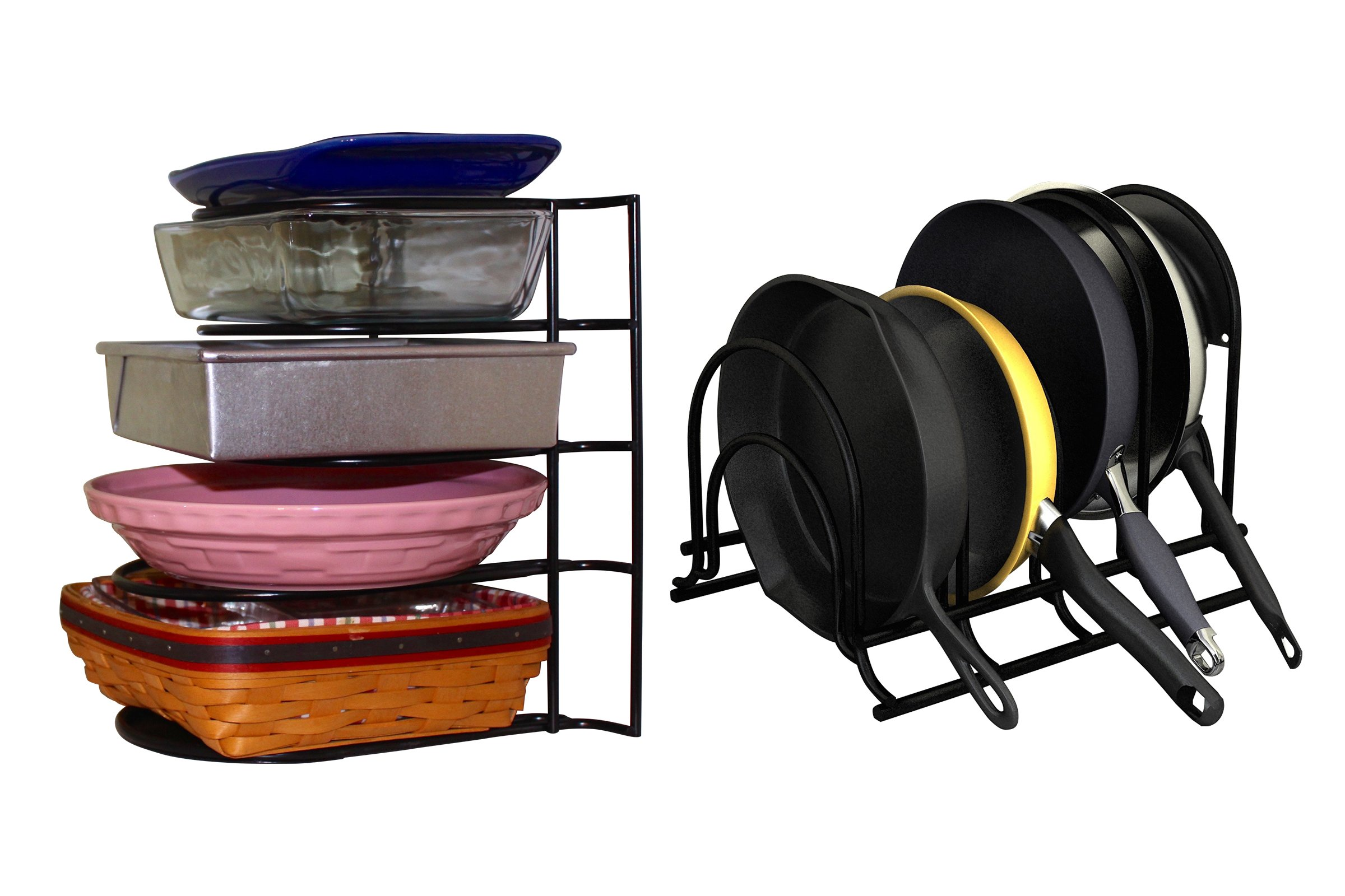Extreme Matters Heavy Duty Pan Organizer - Bottom Tier 1 Inch Taller for Larger Pans - No Assembly Required - Black by Extreme Matters (Image #8)