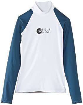 Billabong Rash Guards Logo in Long Sleeve - Neopreno para surf, color multicolor, talla