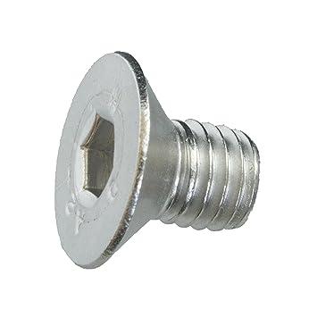 Senkschrauben mit Innensechskant und Vollgewinde 5 Senkkopfschrauben Edelstahl M8 x 40 mm Werkstoff A2 VA // V2A ISO 10642 // DIN 7991