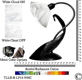 product image for Jezebel Radiance Lazy Daisy Lamp. Hardware: Black. Glass: White Cloud, Lily Style