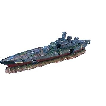 Deko Aquarium Titanic Höhle Boot Fische Dekoration Schiffs-wrack Terrarium Haustierbedarf