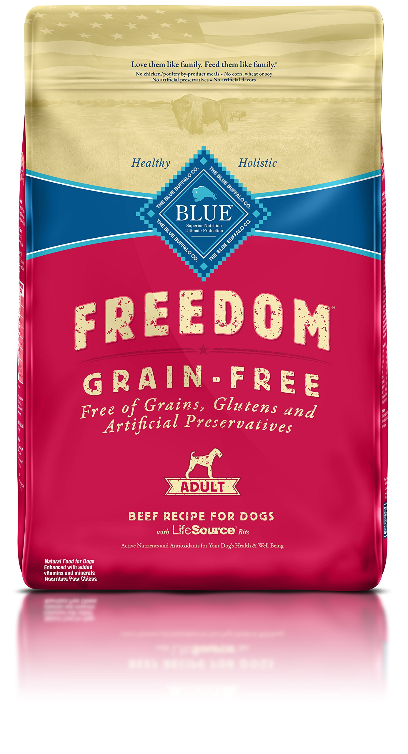 Blue Buffalo Freedom Grain Free Recipe for Dog, Beef Recipe, 11 lb