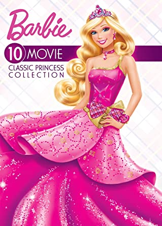 amazon com barbie 10 movie classic princess collection artist not