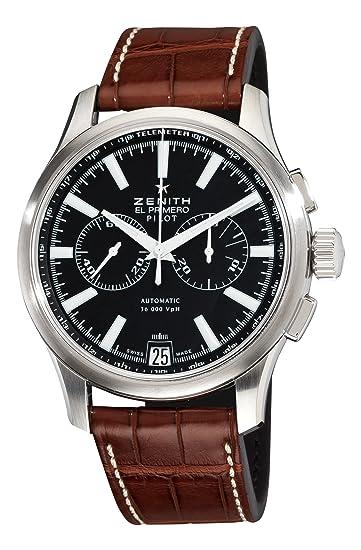 Zenith 03.2117.4002/23.C704 - Reloj de Pulsera Hombre, Color Marrón: Amazon.es: Relojes