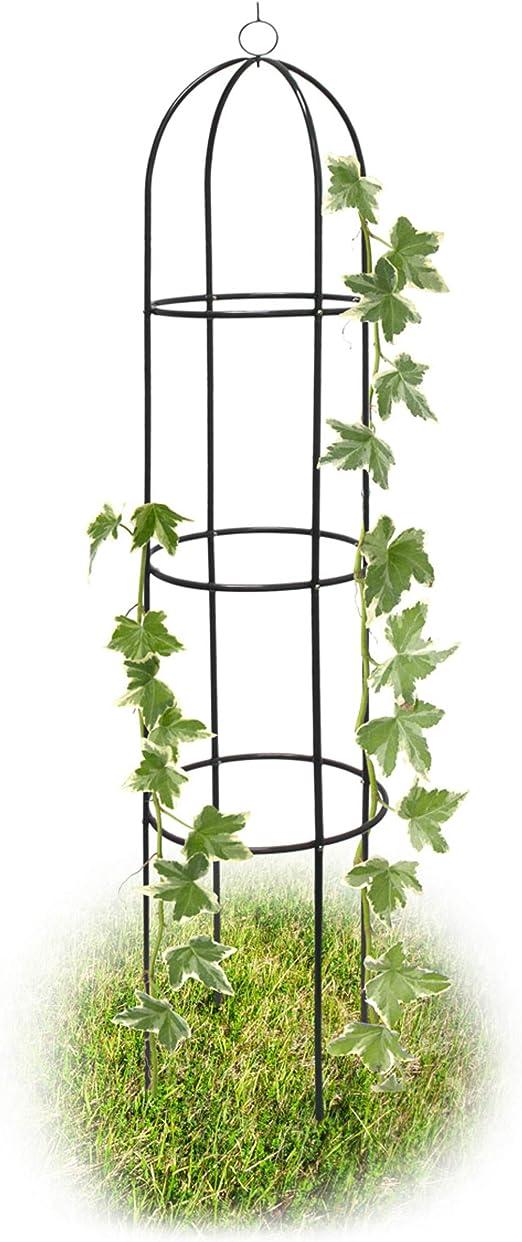 Relaxdays - Columna de rejas para Rosas, 190 x 38 cm, Arco para Flores, para la Decoración del jardín y Terraza, Color Negro: Amazon.es: Jardín