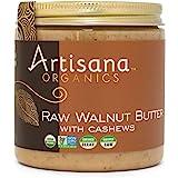 Artisana Organics Raw Walnut Butter with Cashews - No Sugar Added, Just Two Ingredients - Vegan, Paleo, and Keto Friendly, No