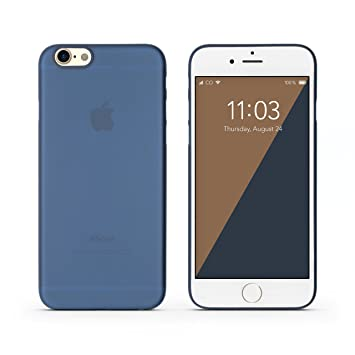C0V3R Funda iPhone 6s Ultra-Slim Case iPhone 6 Carcasa – Super Ultra Fino (0.3 mm) y Ligero (3.5 g) en Azul - Proteccion contra aranazos y golpess – ...