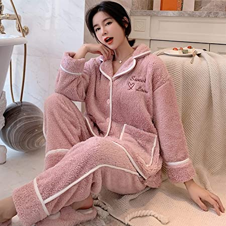 Pijamas Mujer Camisón Conjunto De Pijama De Terciopelo Coral ...
