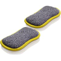 E-Cloth Washing Up Pad Microfiber Sponge Alternative, 2 Pack - New Version, Yellow