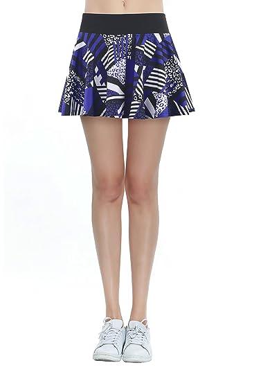 Falda de Tenis Skort Golf Mujer Pantalón Ropa Padel Running Corta ...