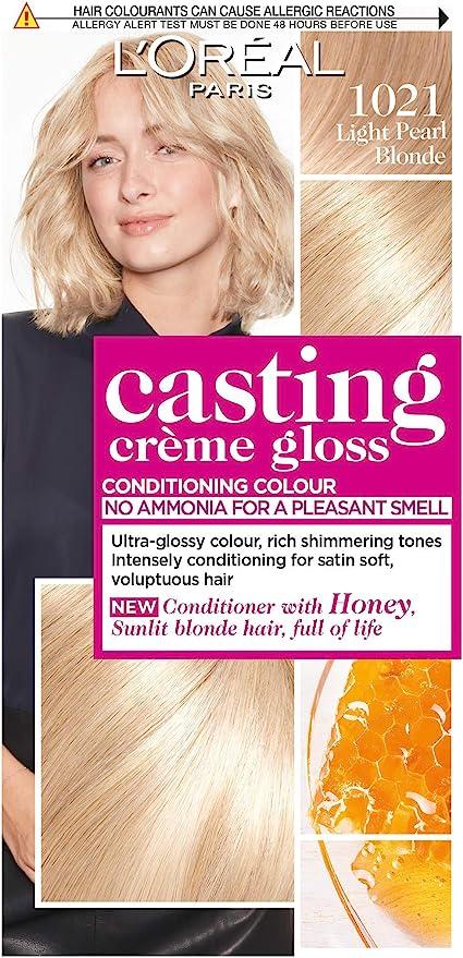 LÓreal 1021 - Tinte semipermanente para cabello (perla clara), color crema