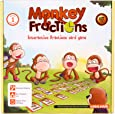 Logic Roots Monkey Fractions Card Game to Introduce Fractions Stem Toy Math Manipulative