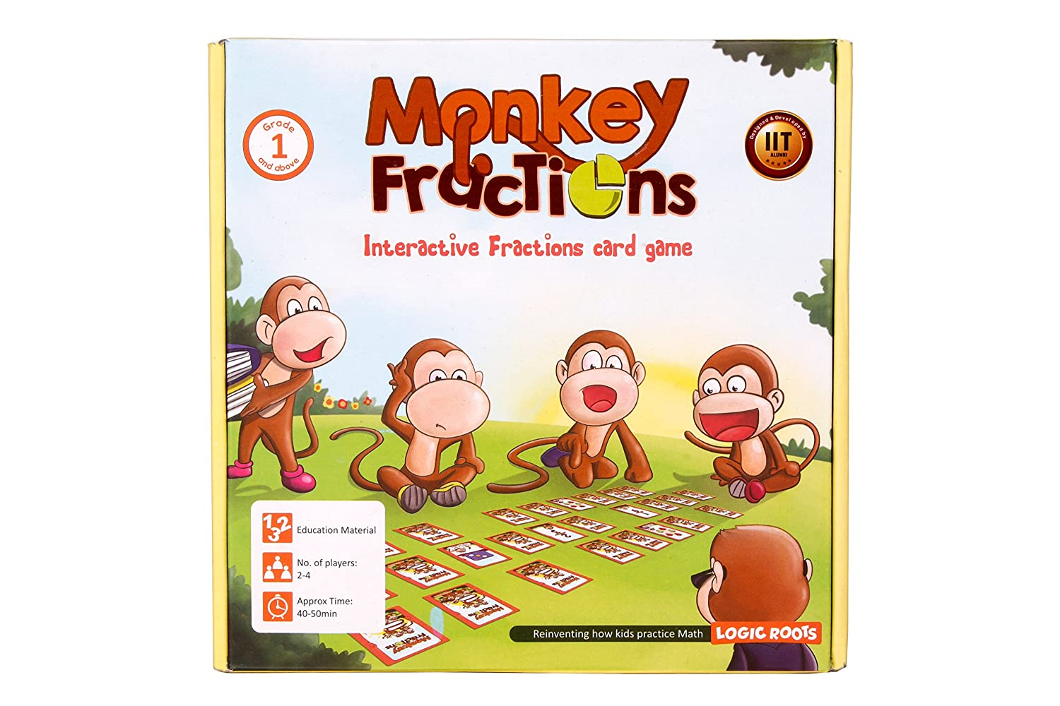 Amazon Logic Roots Monkey Fractions Card Game To Introduce