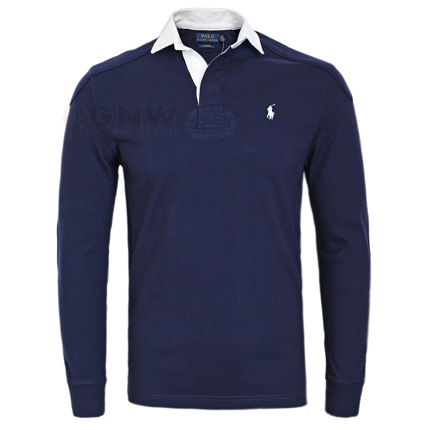 Ralph Lauren Polo Men Luxury Double Stitched Rugby Shirt/Top Custom Fit
