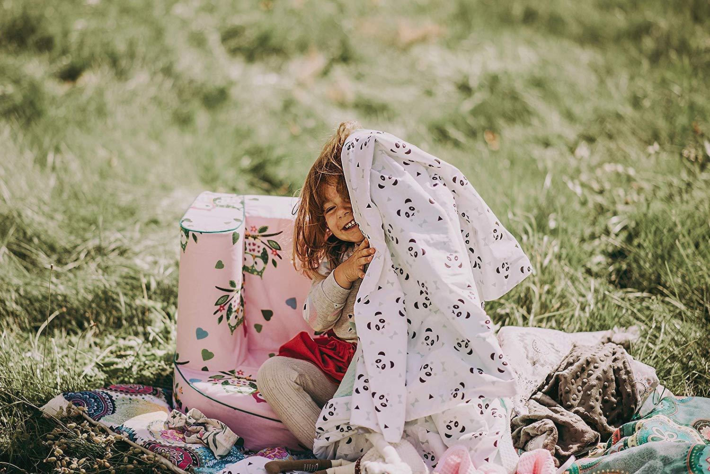 Passend f/ür Kinderbetten 70x140 cm Blue-Stars Oberstoff Waffelpique 100/% Baumwolle MoMika Bettw/äsche Kinderbettw/äsche Bettset 2-teilig Kissenbezug und Bettbezug