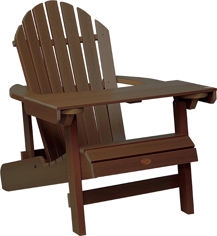 Highwood ADIRONDACK - Bandeja/mesita de lectura de madera sintética eco-friendly, color nogal [Silla no incluida]