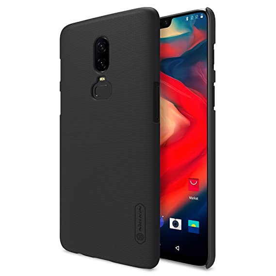 quality design 013ad f5d2b Oneplus 6 Case,Nillkin [With Screen Protector] Frosted Shield Anti  fingerprints Hard PC Case Back Cover for Oneplus 6-Retail Package (Black)