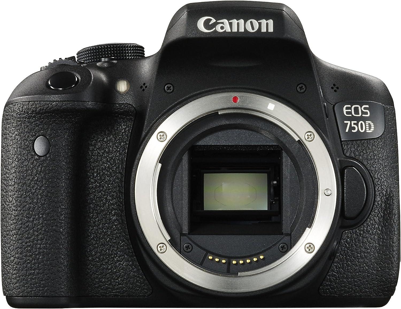 Canon EOS 750D - Cámara réflex Digital, Solo Cuerpo, 24,2 Mpx ...