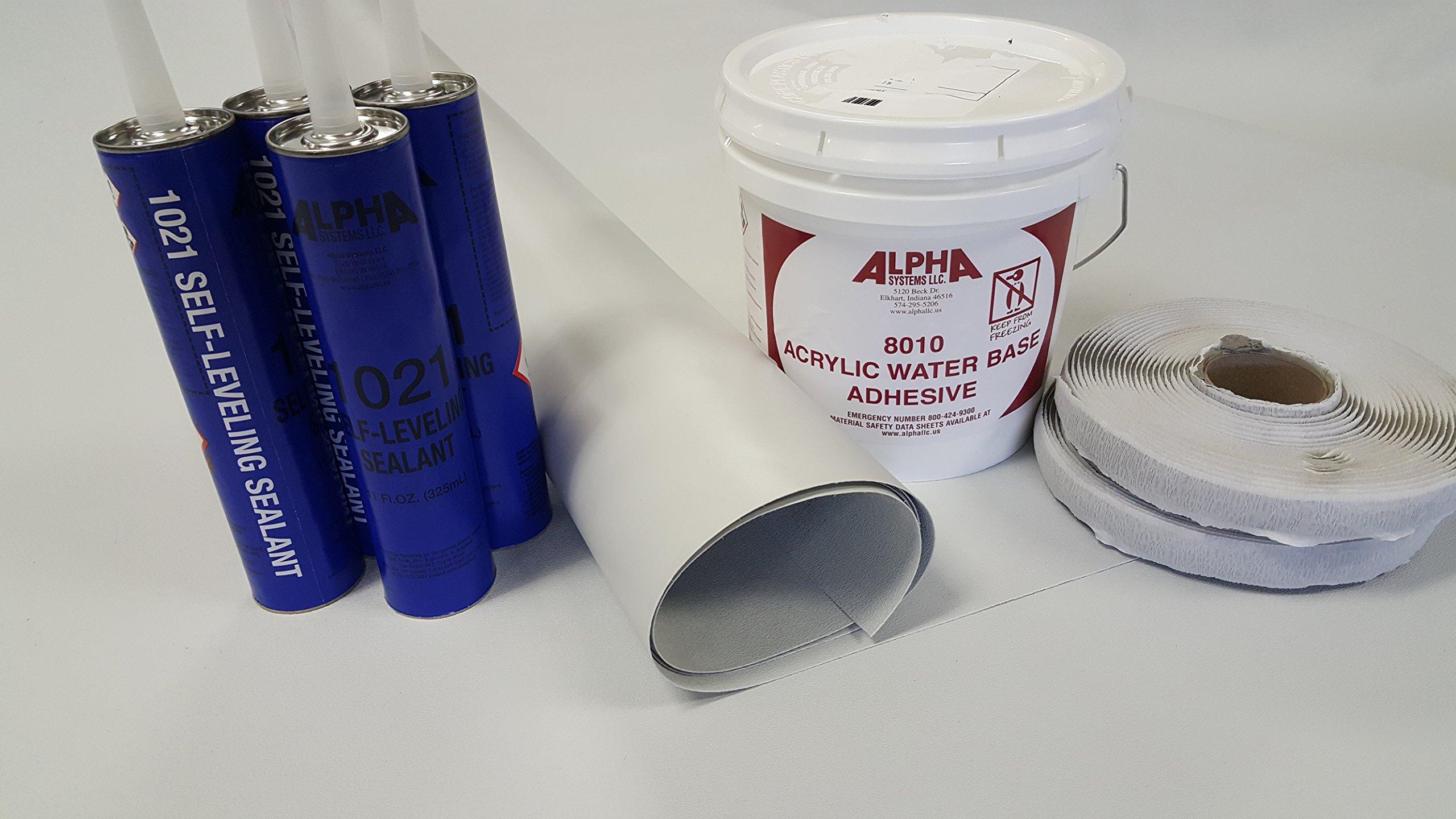 Superflex RV Rubber Roof Kit 8.5' X 20' Complete Kit