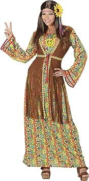 WIDMANN Disfraz de hippie para Mujer, Multicolor, Medium ...