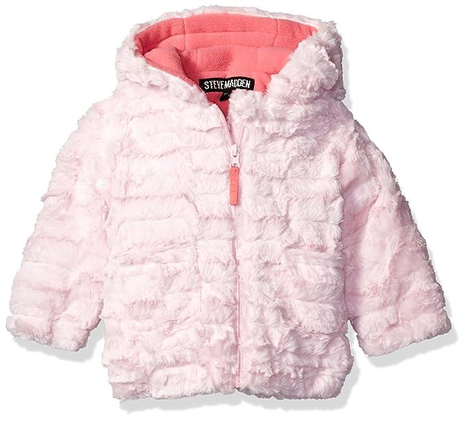 1d1c629c9 Steve Madden Girls  Jacket Black  Amazon.co.uk  Clothing
