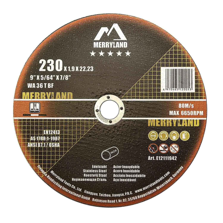 Merryland 230 X 1.9 Expert-line Cutting Disc INOX Stainless Steel Metal 25PCS
