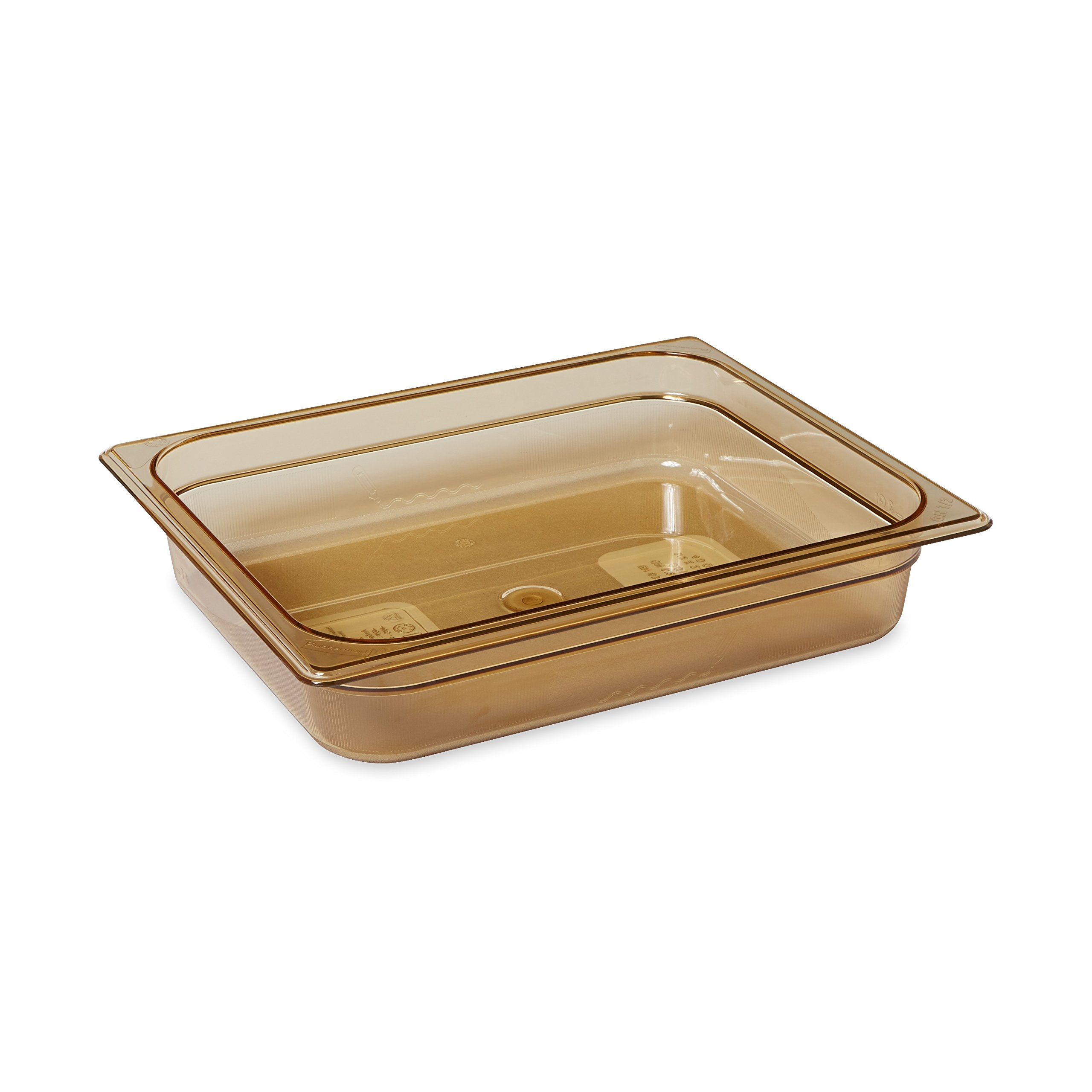 Rubbermaid Commercial Products FG223P00AMBR 1/2 Size 4-Quart Hot Food Pan, Amber