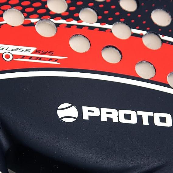PROTON Diablo Pala Pádel Raqueta Indoor Outdoor Negro Rojo