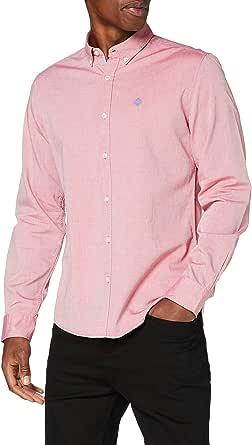 Springfield Solid Pinpoint Color Camisa Casual para Hombre