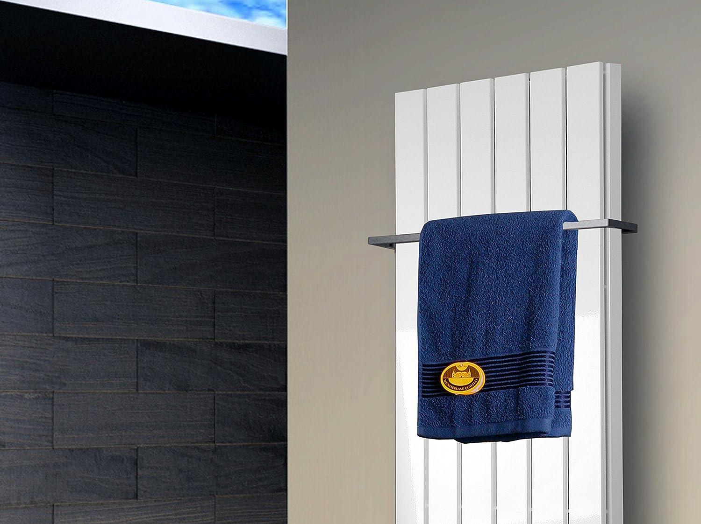 Edelstahloptik Made in Germany//Bad und Wohnraum-Heizk/örper Marke: Szagato Mittelanschluss HxB: 120 x 47 cm 1458 Watt Badheizk/örper Design Peking 5
