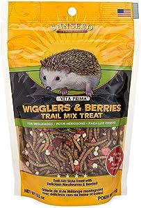 Sunseed 36035 Vita Prima Hedgehog Treat - Wigglers & Berries Trail Mix, 2.5oz