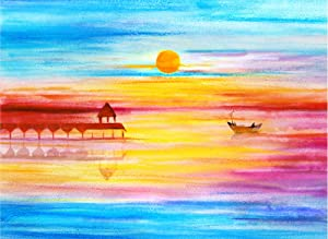 DIY 5D Diamond Painting Kits for Adults Full Drill Diamond Arts Craft Home Wall Decor Sunset for House, Bathroom, Bedroom, Living Room, Office, Gift 11.8x15.7In