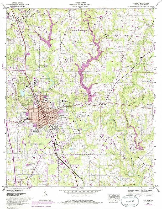 Amazon.com: YellowMaps Cullman AL topo map, 1:24000 Scale ...
