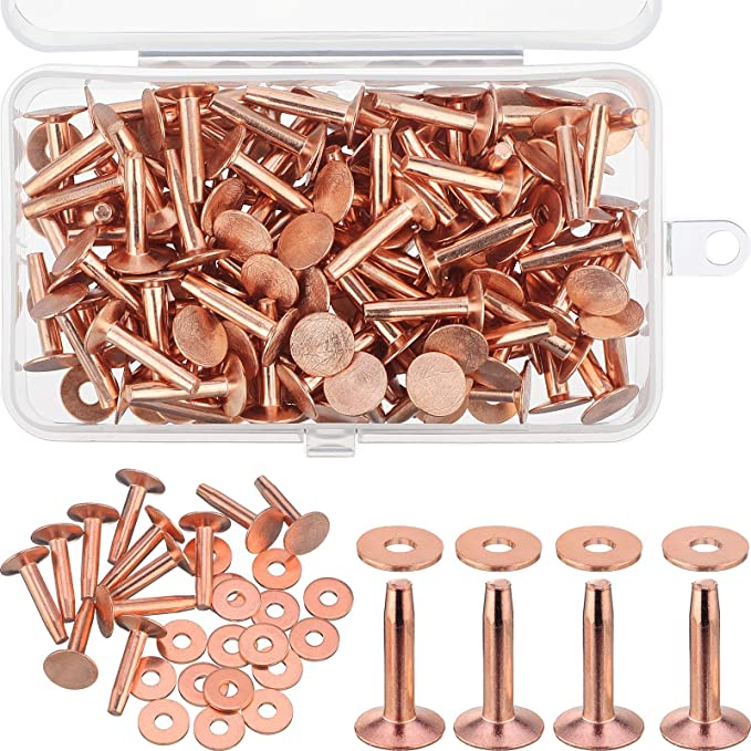 Metal Screw Rivets shoesclothesbag DIY Jewelry Making Supply 100sets-9*11mm Gold metal Rivet for Leather craft