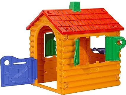 INJUSA - Casita de Jardín The Hut Multicolor con 2 Ventanas y Puerta Abatibles Recomendada a Niños +2 Años: Amazon.es: Juguetes y juegos