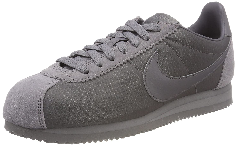 Nike Herren Classic Cortez Nylon Laufschuhe  41 EU|Grau (Gunsmoke/Gunsmoke/White 009)
