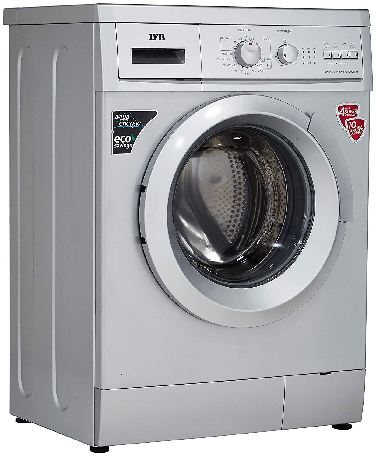 Ifb 6 Kg Fully Automatic Front Loading Washing Machine Elena Aqua Ge Motor Wiring Diagram Besides Load Sx Silver Home Kitchen