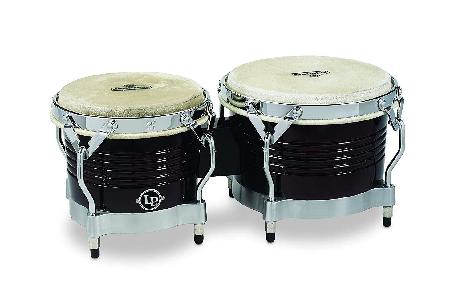 Latin Percussion M201 LP Matador Wood Bongos - Dark Brown/Chrome