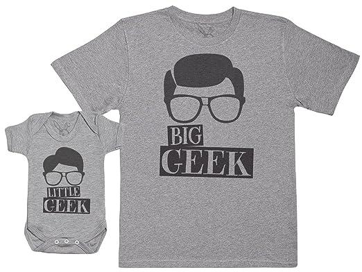 Big Geek   Little Geek - Ensemble Père Bébé Cadeau - Hommes T-Shirt   Body  bébé  Amazon.fr  Vêtements et accessoires 8796c26d5b8