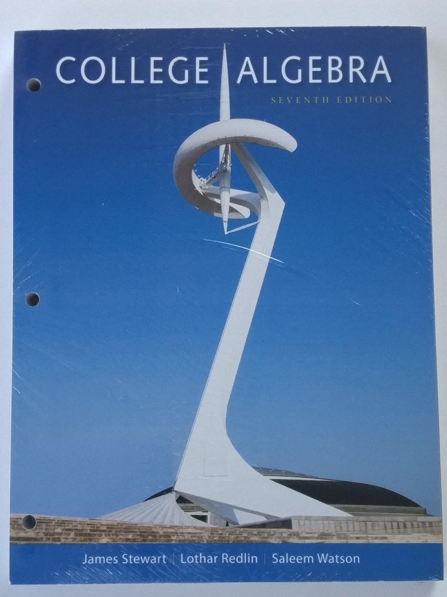 College Algebra 7th Edition Loose Leaf James Stewart: 9781305586031:  Amazon.com: Books
