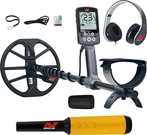 Minelab Equinox 600 Multi-IQ Metal Detector with Pro-Find 35 Pinpointer