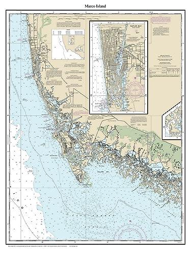 Amazon.com: Marco Island 2014 - Nautical Map Florida Custom ...