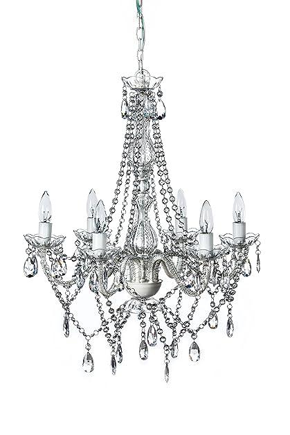 The Original Gypsy Color 6 Light Large Crystal Chandelier H27\