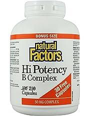 Natural Factors Hi Potency B Complex BONUS - 210 capsules
