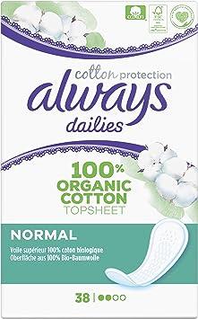 Always Diarios Protección De Algodón Normal Protegeslips 100 g ...